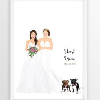 Lesbian Wedding Guest Book