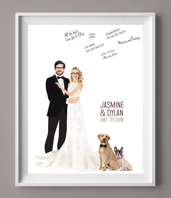 Wedding Guest Book Alternatives - Couple Embracing