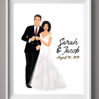 Wedding Guest Book Alternative - Champagne Toast