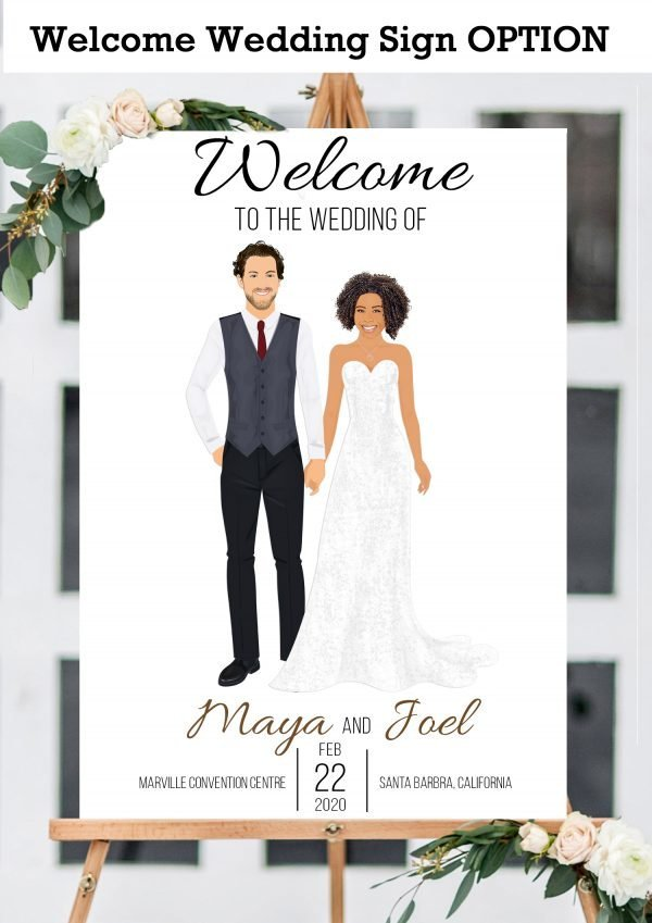 Guest book with couple holding hands